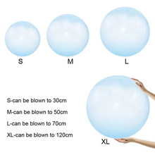 Baby Toy Outdoor Blow bubble ball Soft Air Water Filled Bubble Blow Up Children Play Games Baby Kids bath shower Ball Toys gift(China)