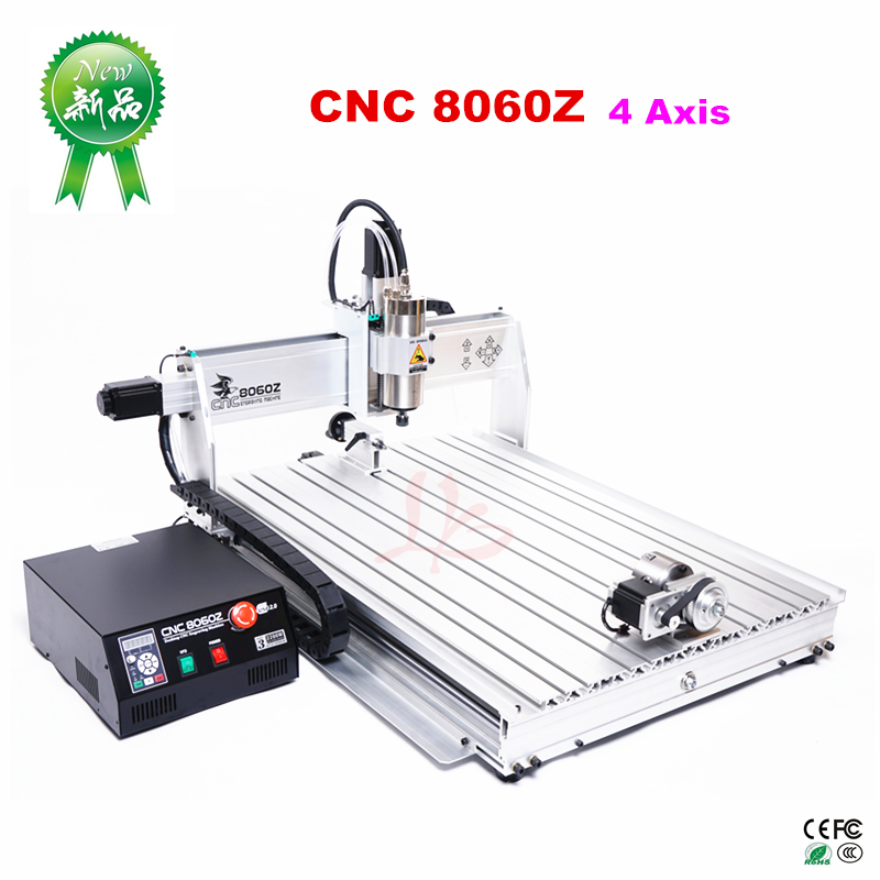 LY 8060Z-USB 4 achse 2,2 KW mit mach3 fernbedienung mini CNC fräsmaschine freies steuer zu RU