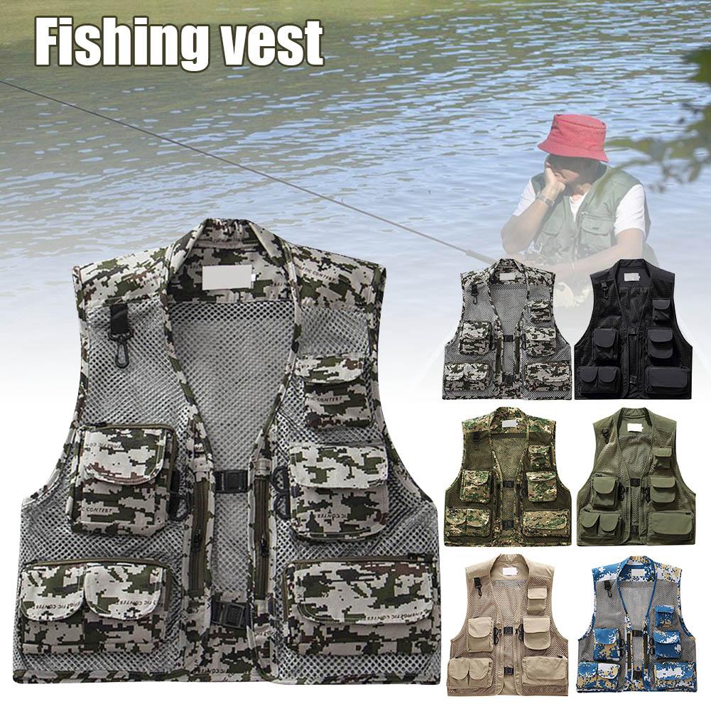 colete de pesca masculino multi bolso malha 04