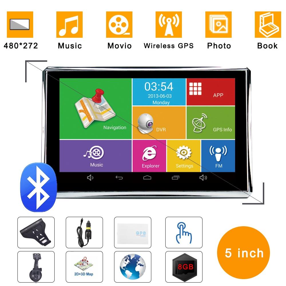 kenmoo 8 GB de 7 pulgadas TFT LCD de pantalla t/áctil GPS coche navegaci/ón GPS para coche//cami/ón Mapas de Reino Unido UE