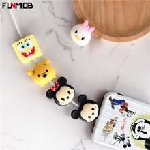 Cute Cartoon Protector Cable Case For iPhone 6 6s 7 8 Plus X Duck Mouse Shape Bite Cover XS Max XR Funda