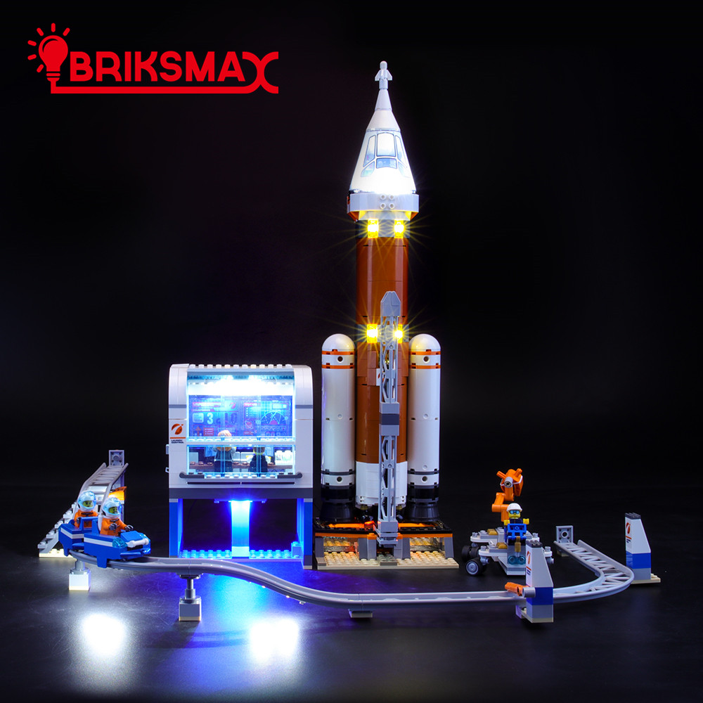 BriksMax Led Light Up Kit For 60228 City Series Deep Space Rocket And Launch Control Building Blocks (NOT Include Model)
