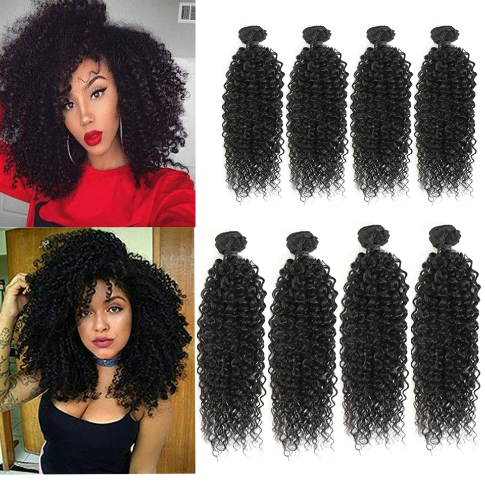 Image Beauty Afro Kinky Curly Hair 12 14inch 8bundles Lot Synthetic Hair Weave 240g Nature Color Thick Jerry Curl Hair Extension One Pack Aliexpress