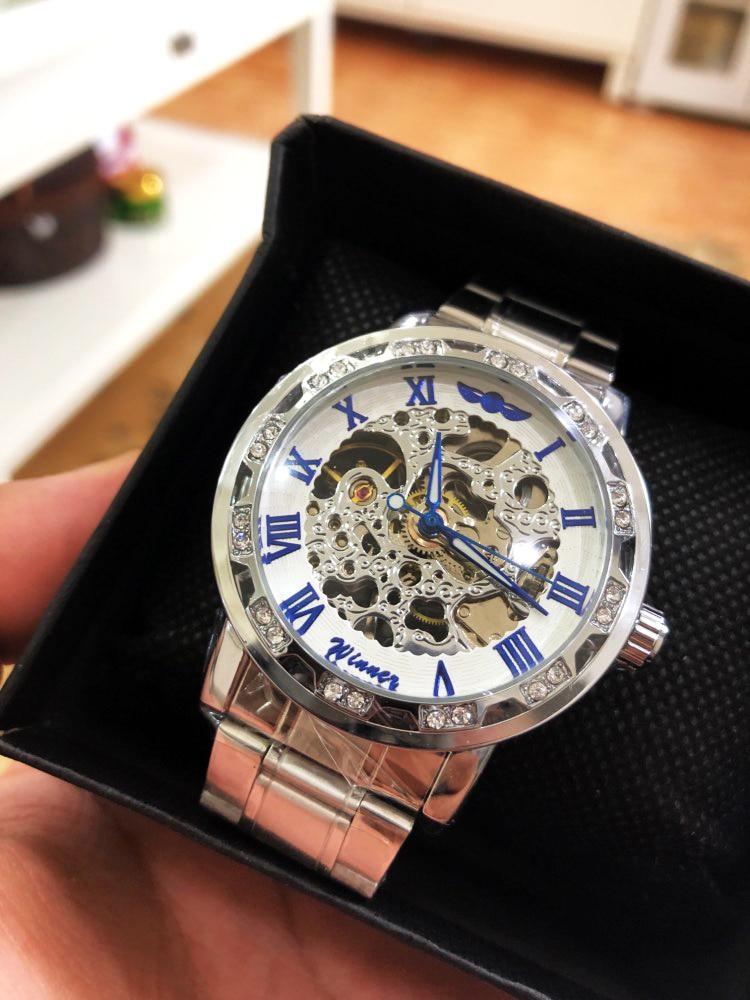 H1131ef283bb94cd3a436cce1dceef67dg Winner Transparent Fashion Diamond Luminous Gear Movement Royal Design Men Top Brand Luxury Male Mechanical Skeleton Wrist Watch