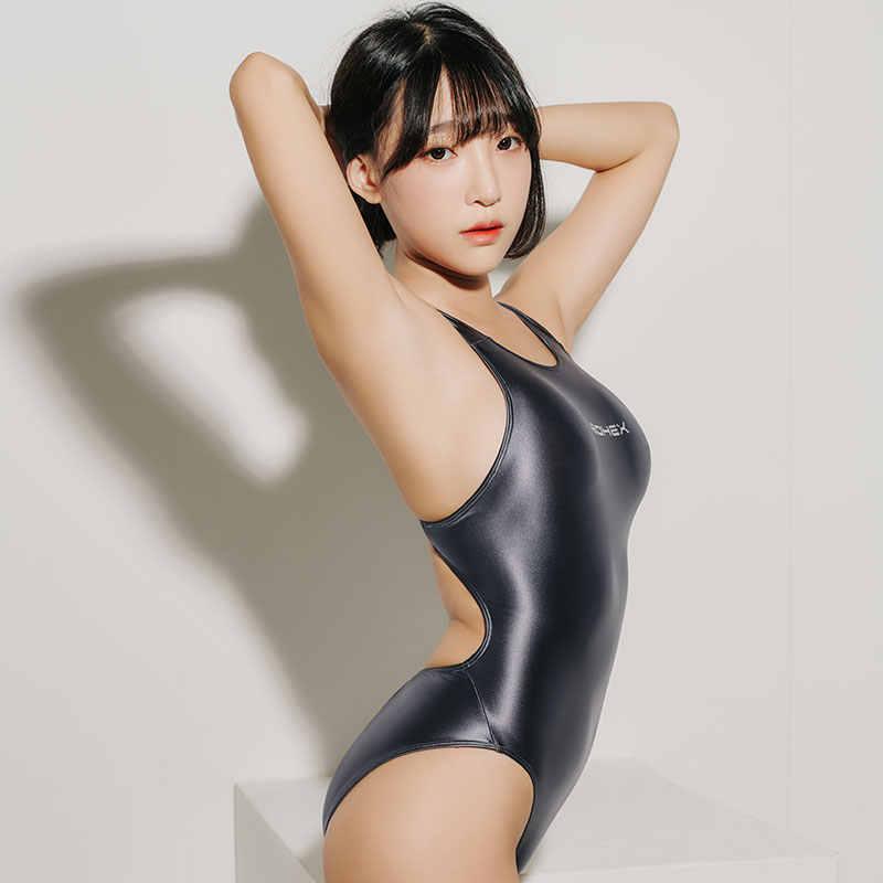 LEOHEX 2019 בגדי ים נשים סקסי בגד ים שקוף רחצה חליפת השחייה חתיכה אחת בגד גוף מבריק גבוהה לחתוך