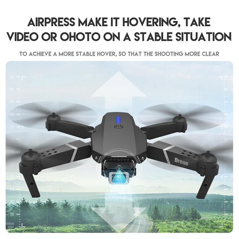 KEELEAD E525 PRO Mini Drone 4K HD Double Camera WiFi Fpv Foldable Quadcopter rc helicopter child Dron Gift 2