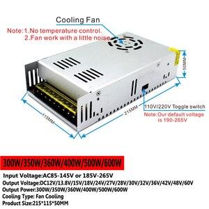 Image 5 - AC DC Switching Power Supply DC 12V 13.8V 15V 18V 24V 27V 28V 30V 32V 36V 42V 48V 60V 300W 350W 360W 400W 500W 600W Transformer