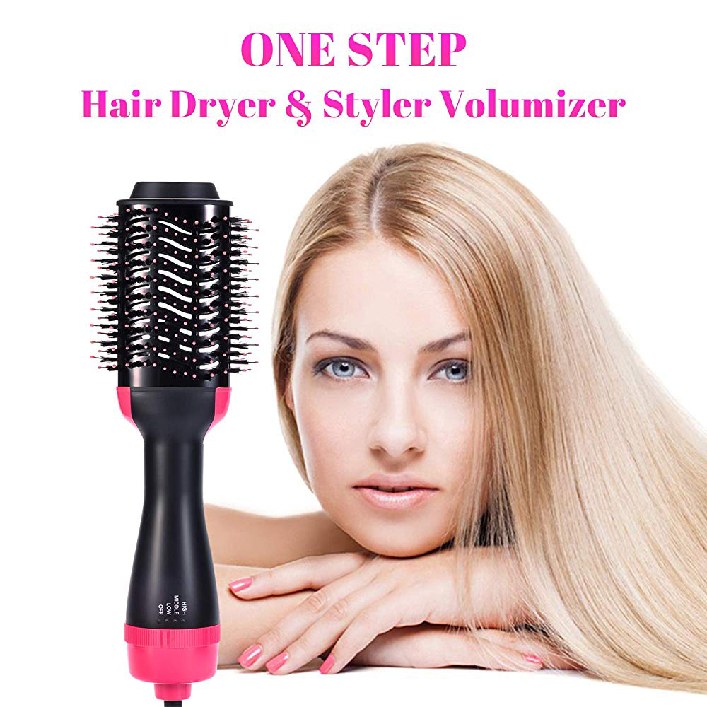 Professional One Step Hair Dryers And Volumizer Styler 2-in-1 Hair Brush Blow Dryer Tangle Electric Hot Air Curling Iron comb 3