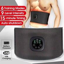Sangle de sport USB unisexe rechargeable, stimulateur musculaire abdominal, ceinture, électrostimulateur électrique, autocollante, intelligente, homme/femme,avec chargeur stimulation des muscles abdominaux, LED,