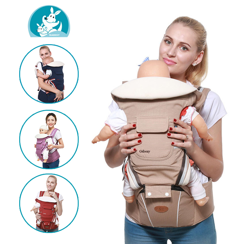 Backpack Ergonomic Carrying-Belt Baby-Sling Newborn Infant 3-36-Months 9-In-1 for Multifunctional