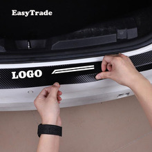 Car Rear Bumper Protector Sill Trunk Tread Plate Trim Door Leather sticker For Hyundai Tucson 2017 2018 2019 accessories