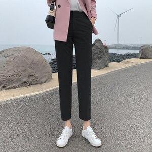 Image 3 - BGTEEVER OL Style Women Pants Plus Size Casual Pencil Pant High Waist Elegant Work Trousers Female Suit Pant pantalon femme 2019