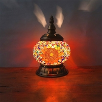 Turkish Mosaic Lamps for Wedding Deco Bedroom Living room mosaic table lamps handmade lampshade Glass lamp WJ121023