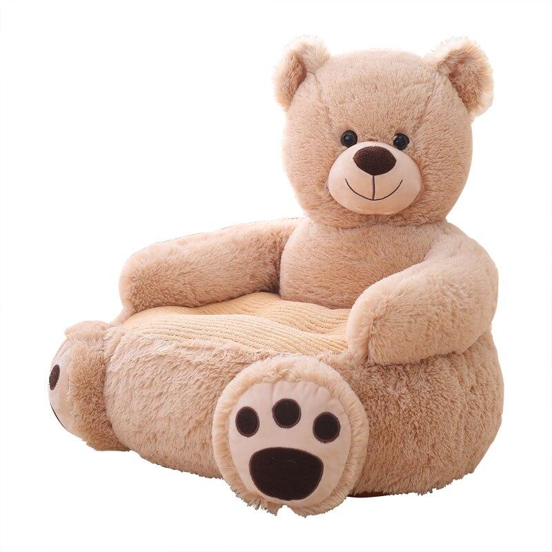 Belle sécurité bébé siège doux Animal en peluche bébé canapé en peluche bébé coussin alimentation chaise apprendre à s'asseoir enfants dos soutien en peluche jouet