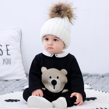 Baby Jumpsuit Overalls Sweater Spring Climbing-Clothes For Newborn For Kids Autumn Woolen