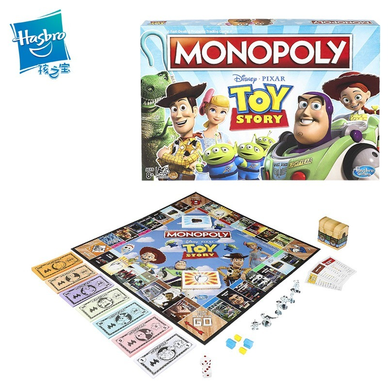 Hasbro Monopoly Toy Story Board Game Adult Family Gaming Education Toy Board Card Games Kid Party Games Toy