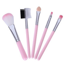 5 Makeup Brushes Set Makeup Tools Eye Shadow Brush Loose Powder Brush Foundation Brush Set Brush(China)