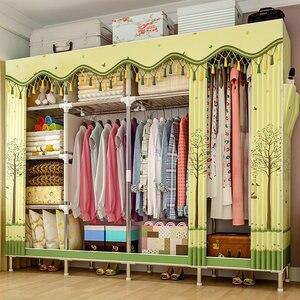 Image 5 - GIANTEXผ้าตู้เสื้อผ้าสำหรับเสื้อผ้าผ้าพับแบบพกพาตู้เก็บตู้ห้องนอนเฟอร์นิเจอร์