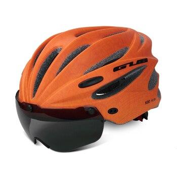 GUB K80 Cycling Helmet with Visor Magnetic Goggles Integrally-molded 58-62cm for Men Women MTB Road Bicycle  Bike Helmet 22
