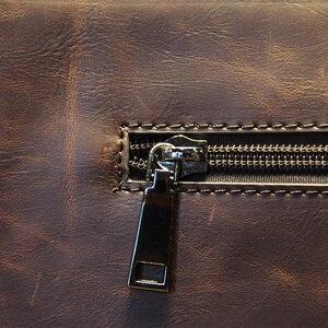Image 4 - ビジネスカジュアル男性の革デザイナーハンドバッグ高品質男性財布有名なブランド男性の大容量クラッチバッグ茶黒