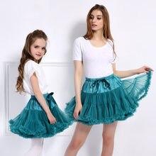 1-15y meninas tutu saia bailarina pettiskirt camada fofo crianças saias de balé para festa de dança princesa menina tule miniskirt