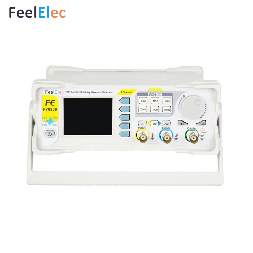 FeelTech FY6900 20M 60M DDS Dual-Channel Arbitrary Waveform Pulse Function Signal Generator with High Quality