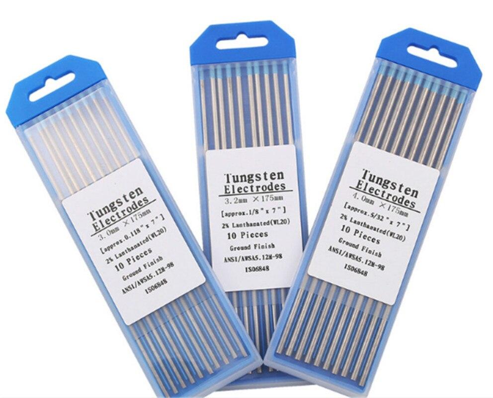 WL20 10 шт синий 3,2 мм * 150 мм (Approx.1/8 & #39 & #39x6 & #39 & #39) лантанированный Вольфрам электродная головка Вольфрамовая игла/стержень для Weldin