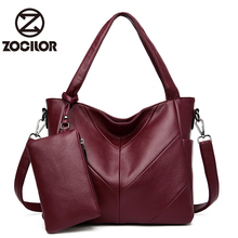 Luxury 2sets Handbag for Women Soft Leather Women Bags Designer Crossbody