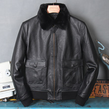 Jacket G1 Genuine-Leather Winter Mens Warm Free Quality Clothes.wholesales.