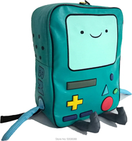 Adventure Time backpack with Finn and Jake CN BMO backpack Beemo Be more Cartoon Robot High grade PU Green