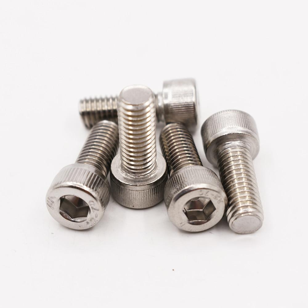 PZRT 50pcs M3 x 8mm Button Head Socket Cap Screws,304 Stainless Steel Allen Hex Button Head Screws