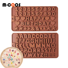 Cream Cake 26 Alphabet Number Decorating Tools DIY Chocolate Mold Pastry Cake Design Silicone Mold Baking Accessories Wholesale