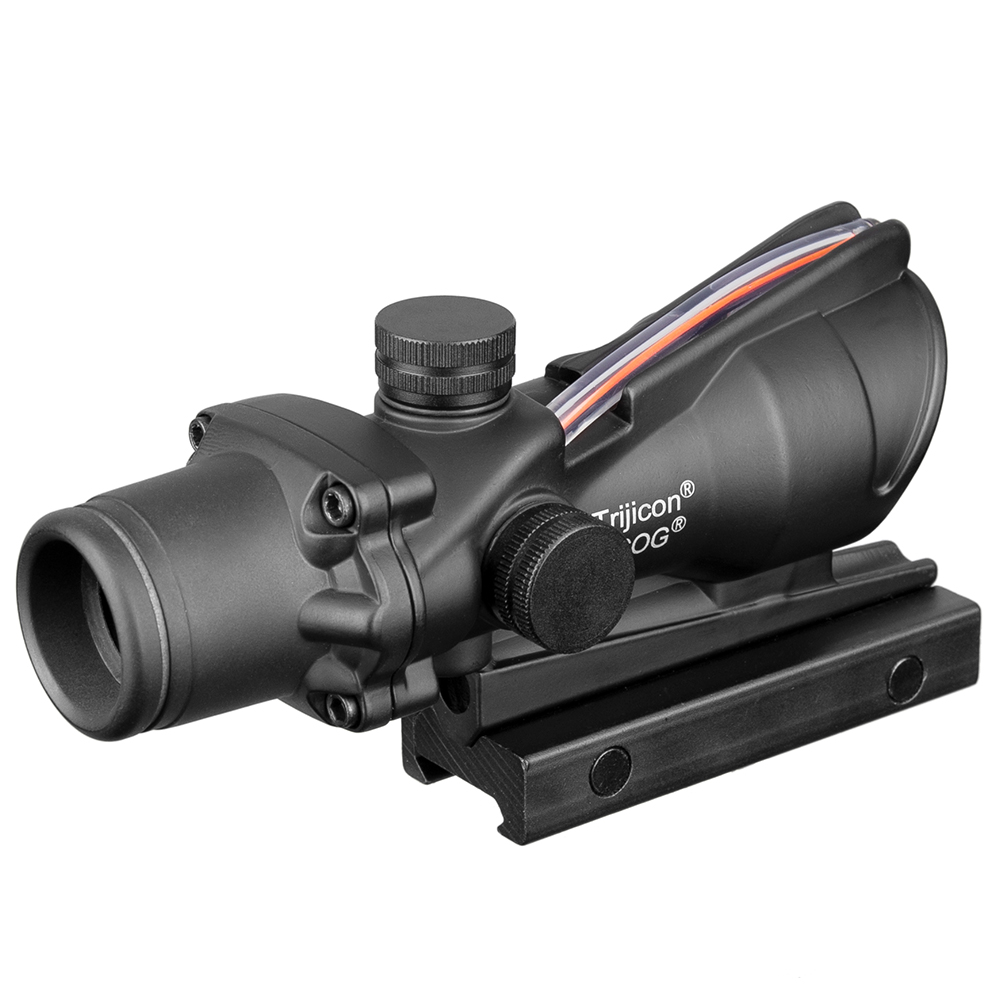 Image 2 - Acog 1x32 Tactical Red Dot Sight Real Green Fiber Optic Riflescope With Picatinny Rail For M16 Rifle Hunting Scope-in Riflescopes from Sports & Entertainment