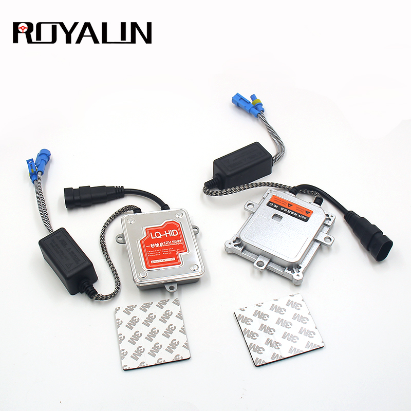 ROYALIN 12V 55W 1PCS Fast Start Ignition HID Xenon Ballast Digital Conversion Replacement Driver For H7 H4 H1 D2S H11 9005 Bulbs