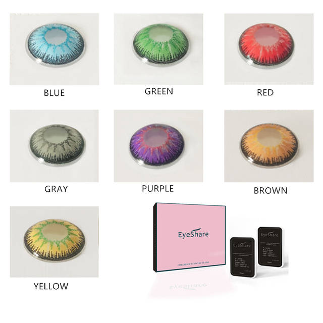 EYESHARE 1 Pair  Beautiful Pupil  Eye Cosmetic Colorful Contact Lens Halloween Cosplay Lenses Crazy Lens for Eyes 1