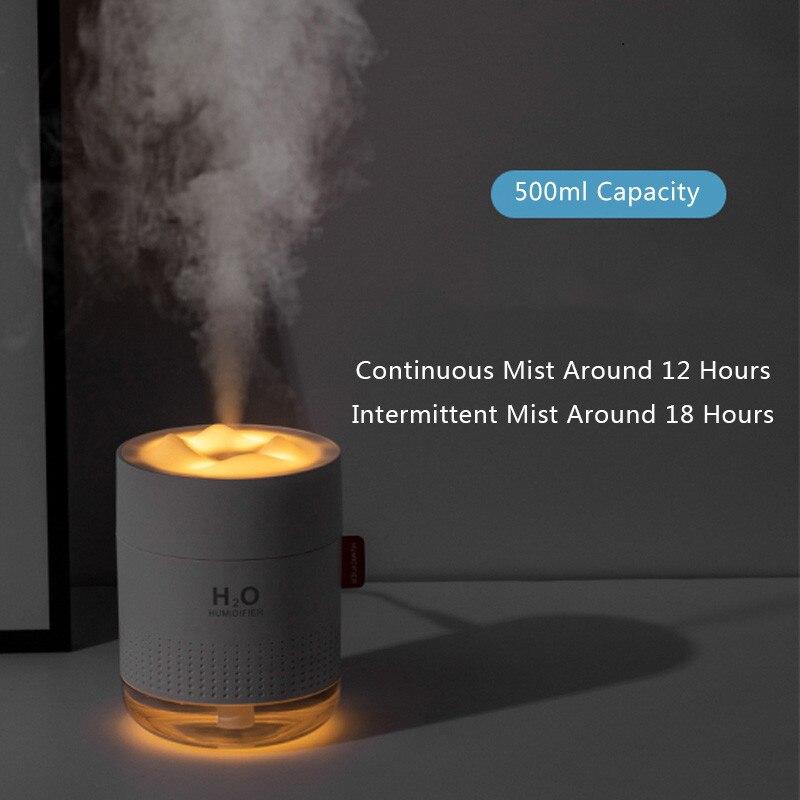 ELOOLE USB Air Humidifier Mountain Essential Oil Diffuser Car Air Freshener Purifier Mini Humidification With Night Lights