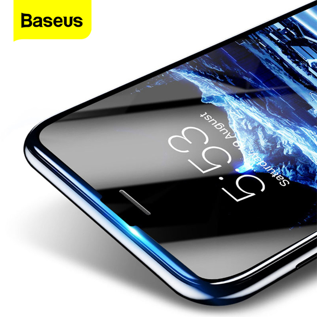 Baseus 3D Tempered Glass For iPhone 8 7 6 6S Plus Screen Protector 0.23mm Soft Edge PET Full Cover Thoughened Film For iPhone8