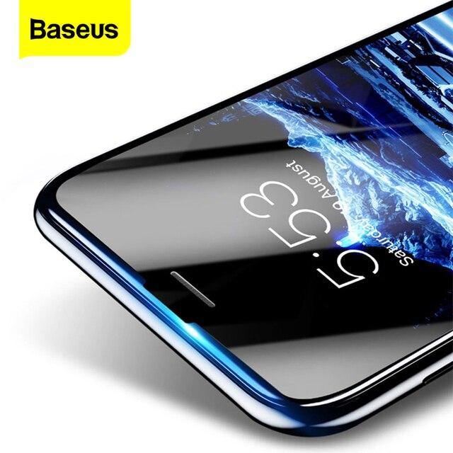 Baseus 3D szkło hartowane dla iPhone 8 7 6 6S Plus ochraniacz ekranu 0.23mm miękka krawędź PET pełna okładka przemyślany Film dla iPhone8