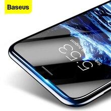 Baseus Protector de pantalla de vidrio templado 3D para iPhone, película protectora de pantalla de 0,23mm con borde suave y PET, para iPhone 8, 7, 6, 6S Plus