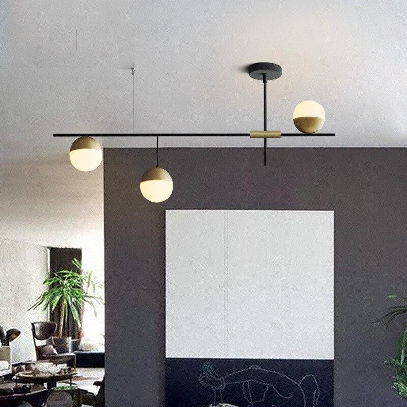 Moderno e minimalista ristorante bar multi testa molecolare rotante lampade a sospensione Nordic camera da letto comodino luci del pendente del metallo - 3