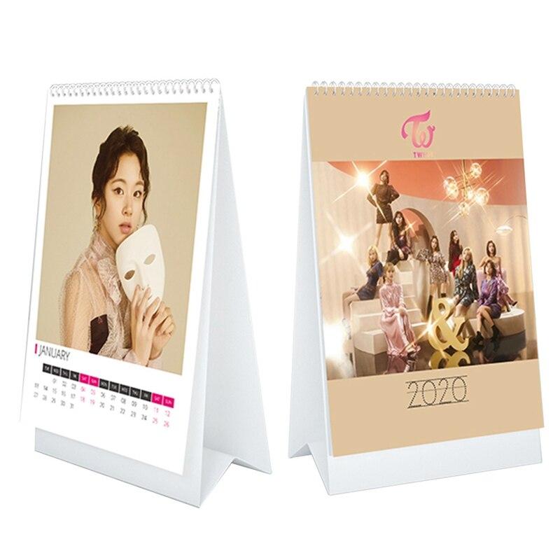 TWICE  2020 Coil Desk Calendar Fashion TWICE Calendar Fans Collection Gifts Drop Shipping