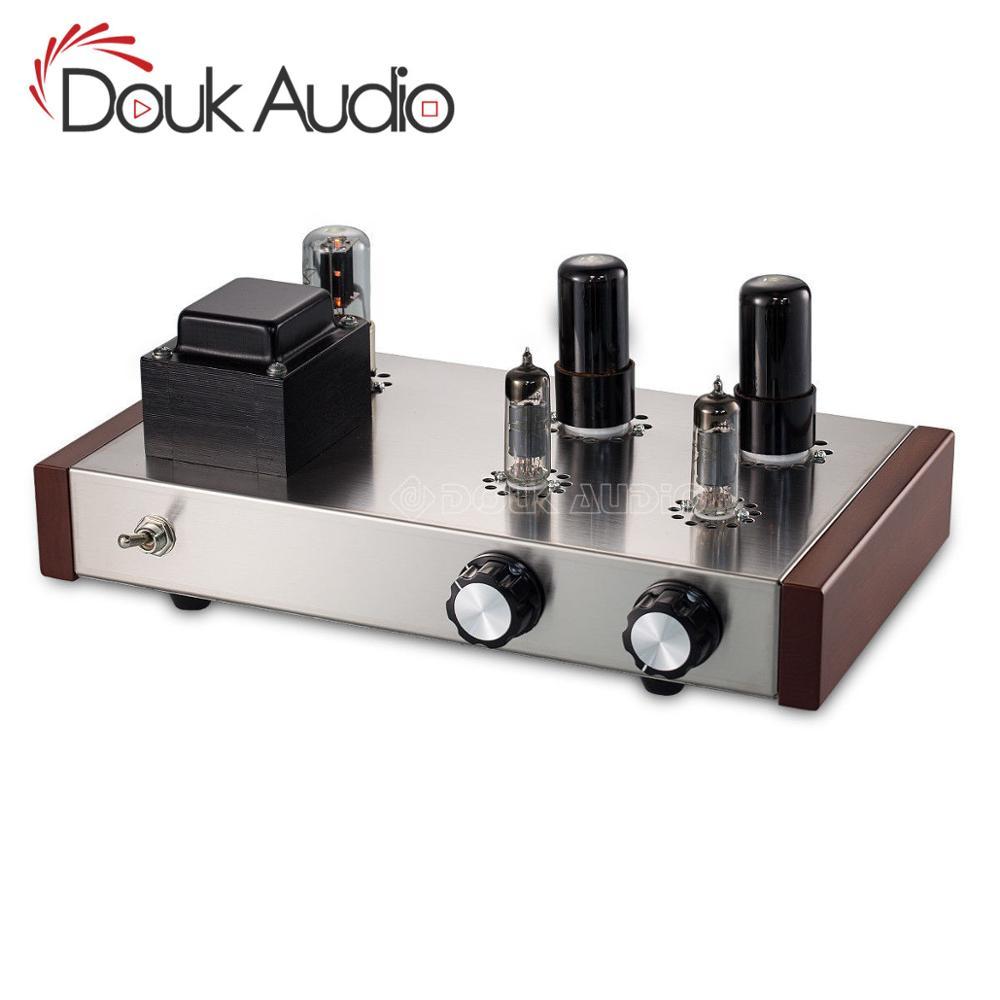 Douk Audio 6J4 +6P6P Vacuum Tube Preamplifier HiFi Home Stereo Class A Audio  4-Ways Preamp