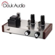 Douk Audio 6J4 +6P6P Vacuum Tube Preamplifier HiFi Home Stereo Class A Audio  4 Ways Preamp