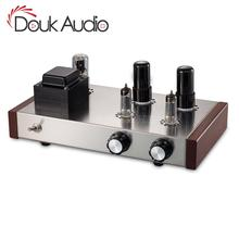 Douk Ses 6J4 + 6P6P vakumlu tüp Preamplifikatör HiFi Ev Stereo Sınıf Bir Ses 4 Yollu Preamp