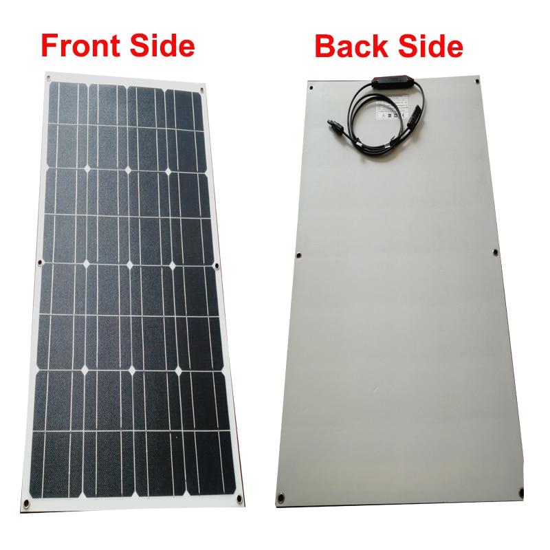 1 pièces blanc ETFE 100W flexible panneau solaire 18V en cellules de contact arrière avec revêtement ETFE durable-in Cellules photovoltaïques from Electronique    1