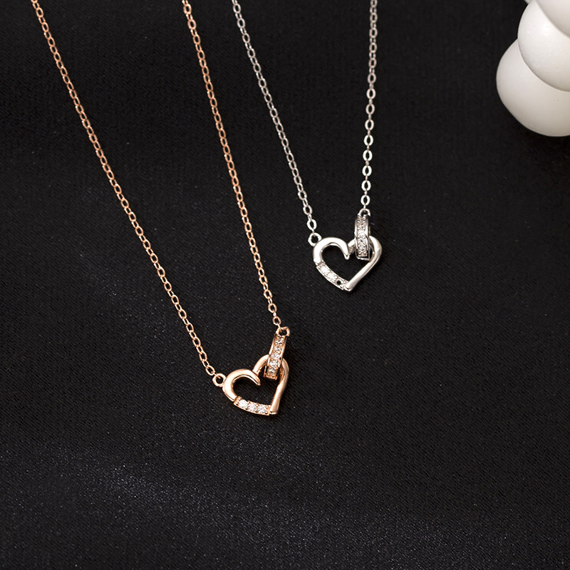 Celebrity Layered Style Star Rose Gold Over Sterling Silver Pendant Necklace.