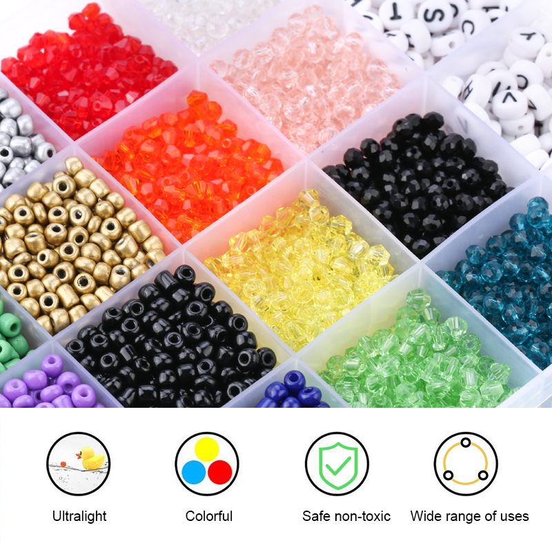 Jewelry-Beads-Set Bracelet Glass-Seed-Beads Acrylic DIY Necklace-Accessories Fit 4mm