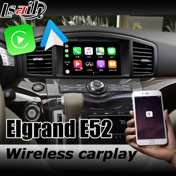 Carplay interface box for Nissan Elgrand E52 Highway star 2010-now with Murano Pathfinder Patrol 370z Android auto youtube play image