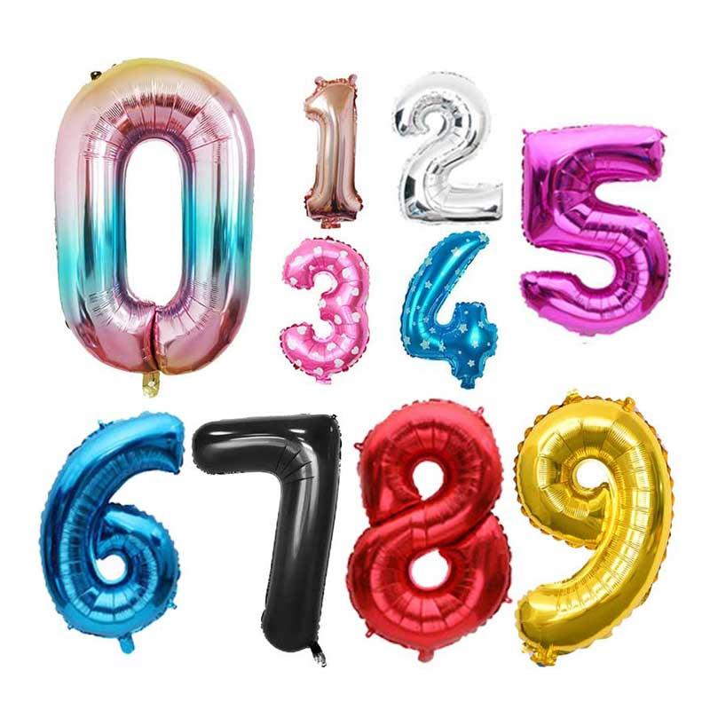 16, 32 дюйма воздушные шары из фольги в виде цифр Свадьба День рождения украшения из розового золота цифровой Globos шар Baby Shower поставки