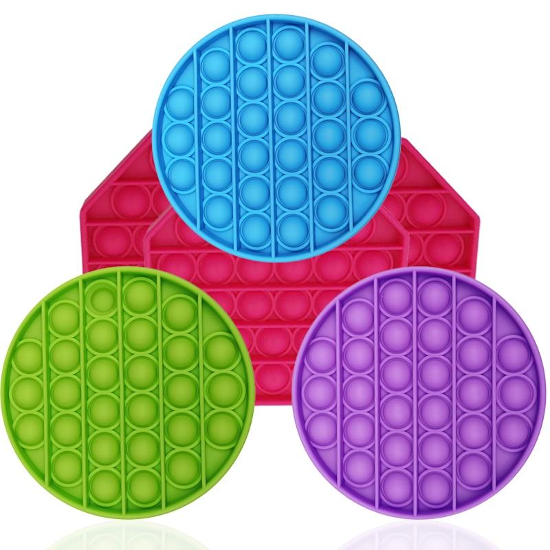 Забавная игрушка-антистресс для взрослых и детей, пузырьковая игрушка, сенсорная игрушка